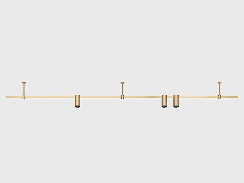 Illuminazione a binario a LED in ottone satinato AUROOM LINE by Centrsvet