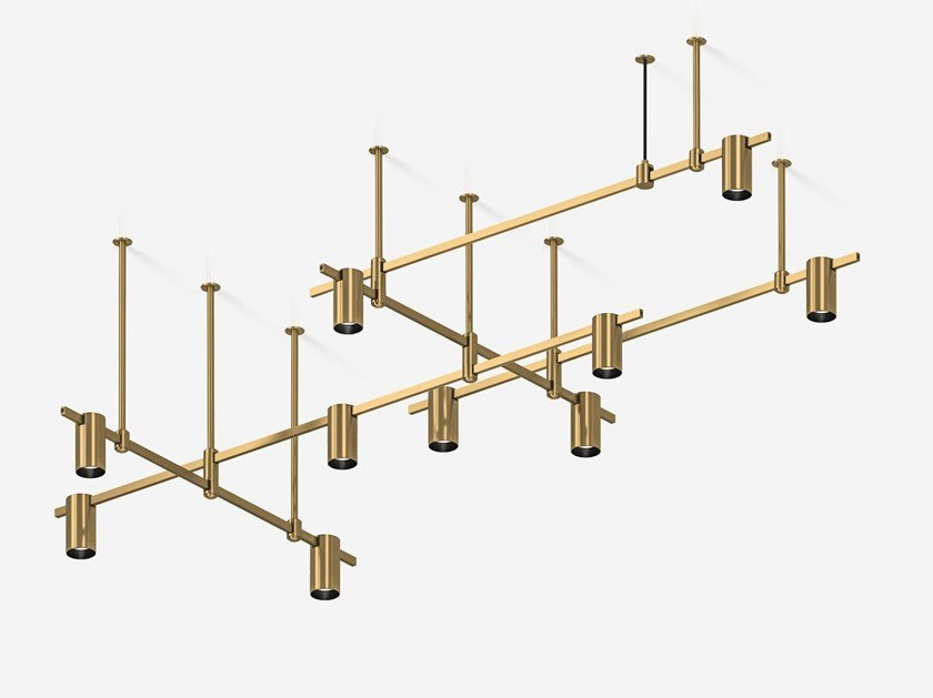 Illuminazione a binario in ottone satinato AUROOM RECTANGULAR by Centrsvet