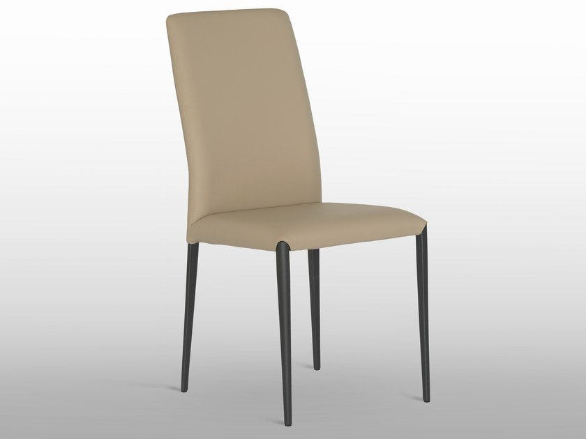 Sedia in pelle con schienale alto AURORA | Sedia con schienale alto ...
