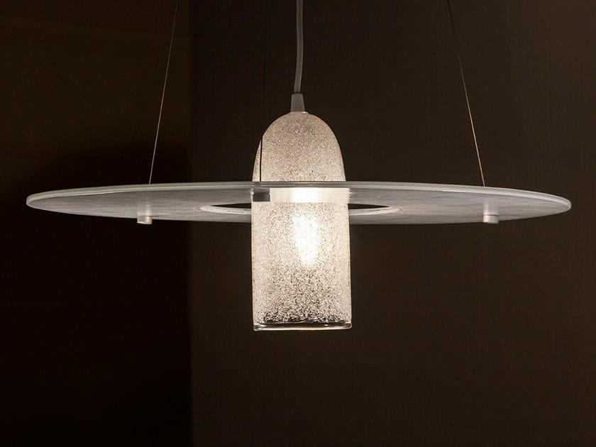 LED handmade glass pendant lamp AURORA & LEVANTE by ENGI