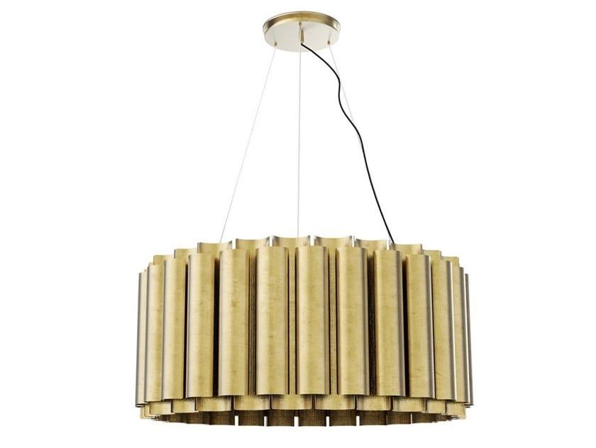 Lampada a sospensione a luce diretta e indiretta in ottone AURUM II by BRABBU