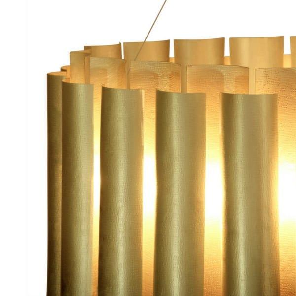 Lampada a sospensione fatta a mano in ottone AURUM III By BRABBU VSE9Xx