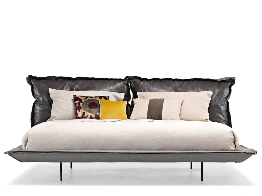 Double bed with upholstered headboard AUTO-REVERSE DREAM by Arketipo