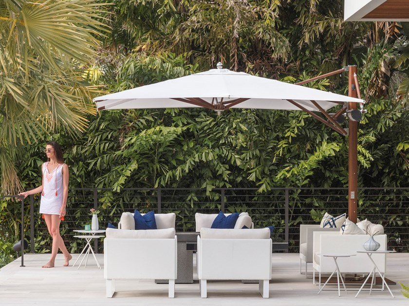 Adjustable offset Garden umbrella AUTOMATED MAX CANTILEVER by TUUCI