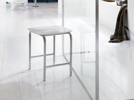 ABS bathroom stool AV375A | Bathroom stool by INDA®