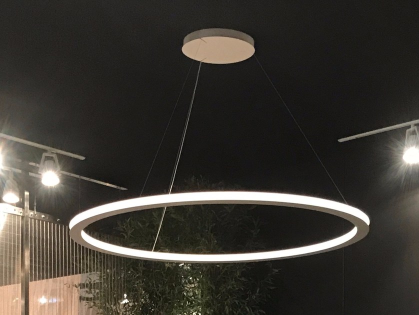 LED indirect light powder coated aluminium pendant lamp AVA 150 by Le Deun Luminaires