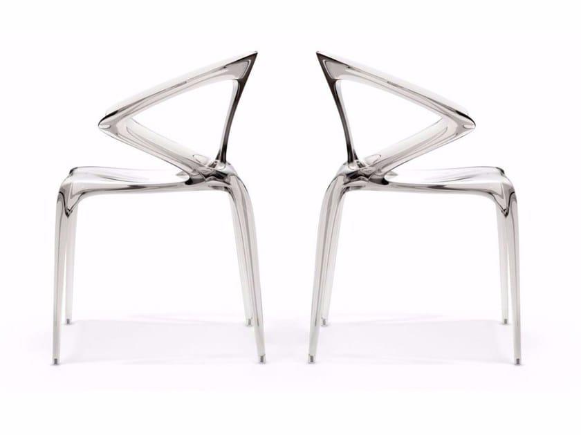 Sedia impilabile con braccioli AVA - Roche Bobois