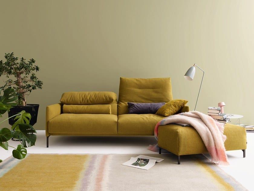 Couch Mit Kopfsttze Great Super Groes Echtleder Ecksofa Uform