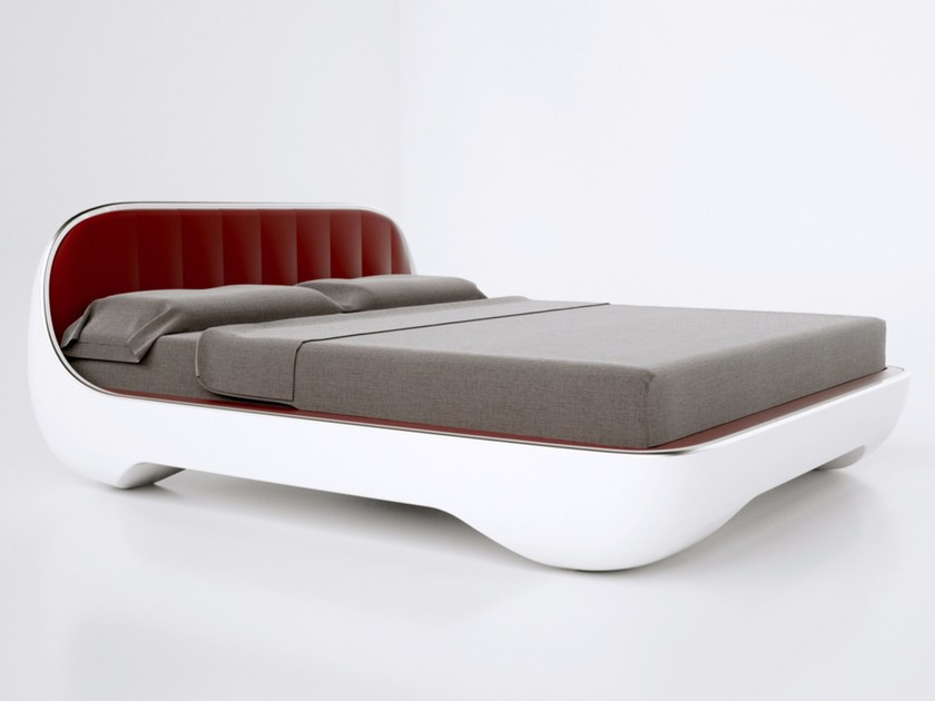 Adamantx® double bed with upholstered headboard AVANTGARDE by ZAD ITALY