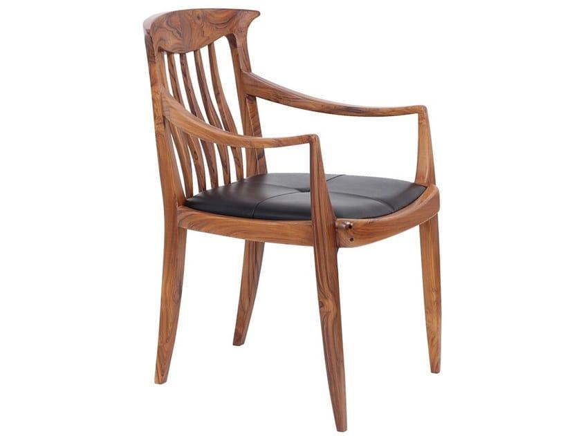 Teak chair with integrated cushion AVARA by ALANKARAM