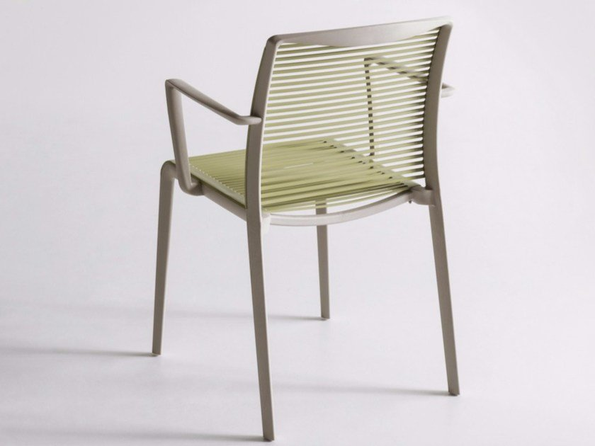 Technopolymer chair with armrests AVENICA by GABER