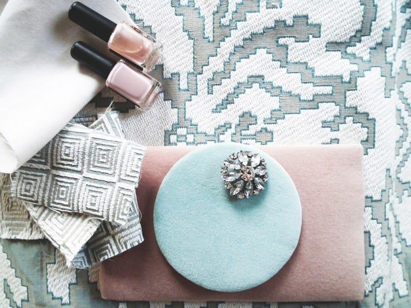 Jacquard fabric with graphic pattern AVENUE BROCCATO by l'Opificio