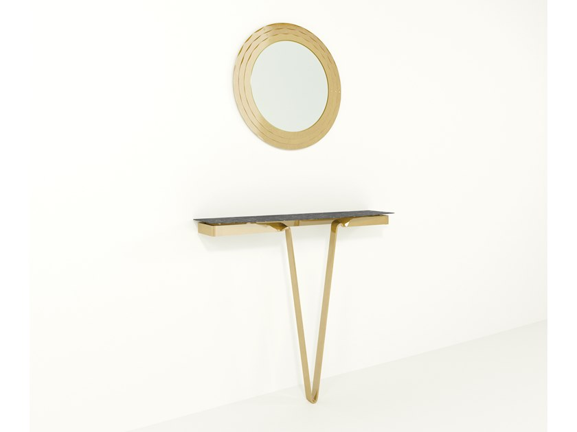 HPL and iron console table AVI | HPL console table by Barel