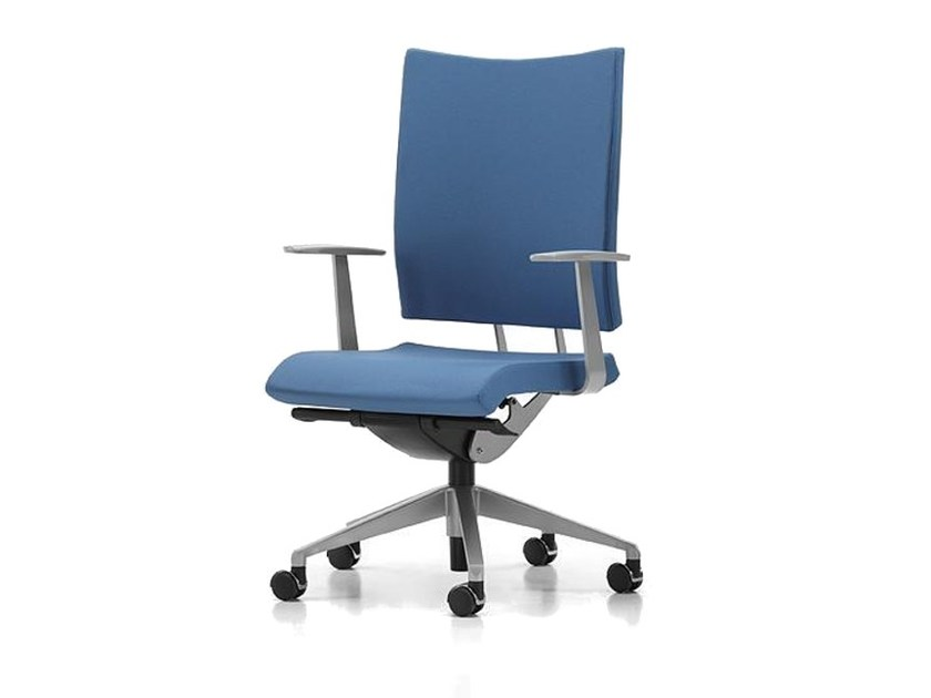 Fabric task chair with 5-Spoke base with armrests with casters AVIAMID 3412 by TALIN
