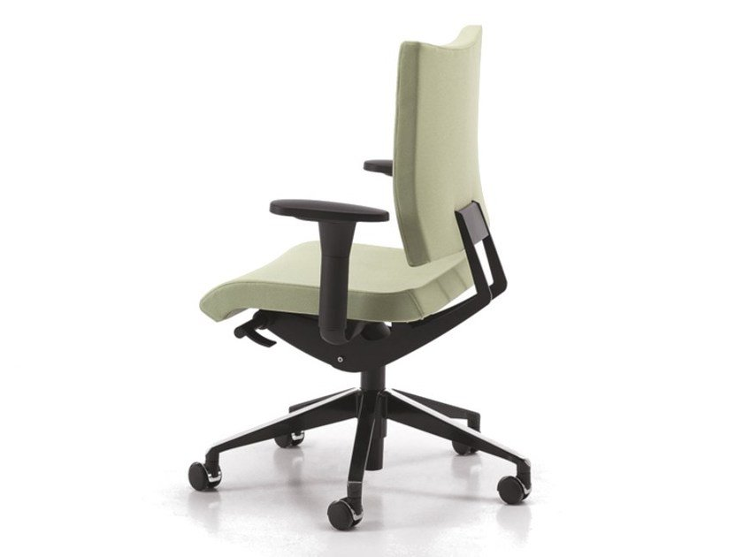 Fabric task chair with 5-Spoke base with armrests with casters AVIAMID 3406 by TALIN