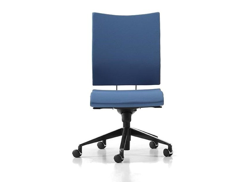Fabric task chair with 5-Spoke base with casters AVIAMID 3410 by TALIN