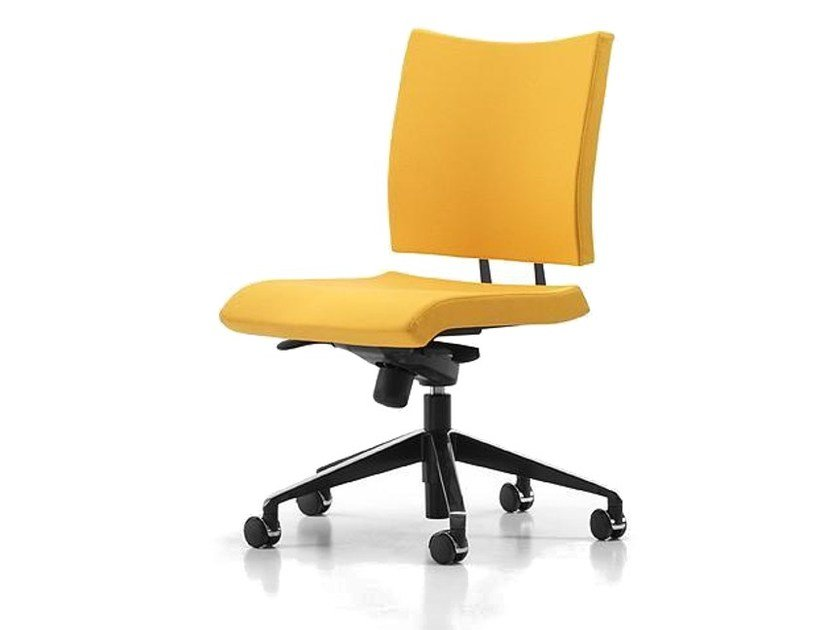 Fabric task chair with 5-Spoke base with casters AVIAMID 3440 by TALIN