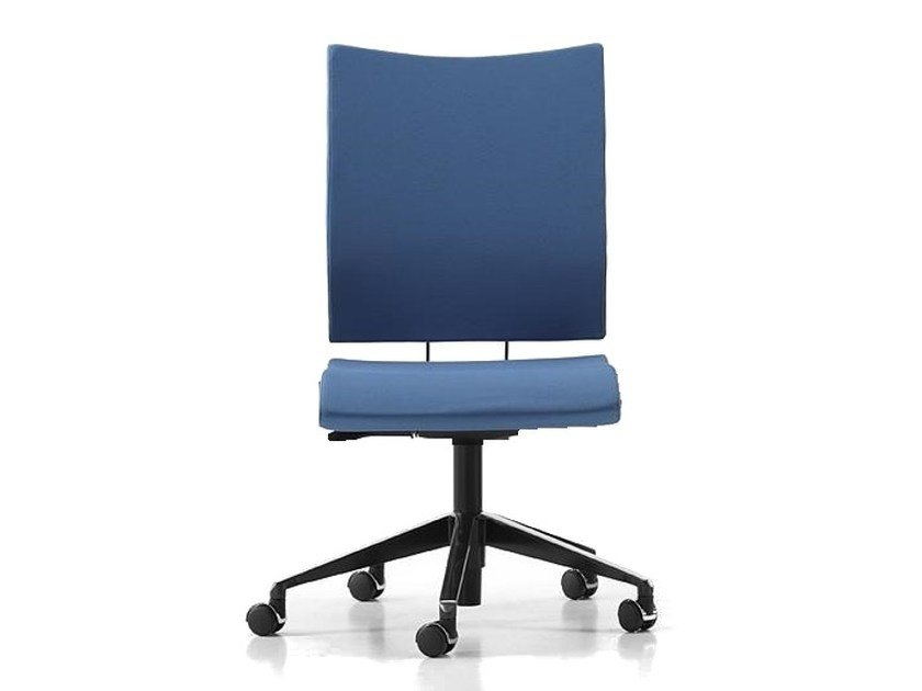 Fabric task chair with 5-Spoke base with casters AVIAMID 3450 by TALIN
