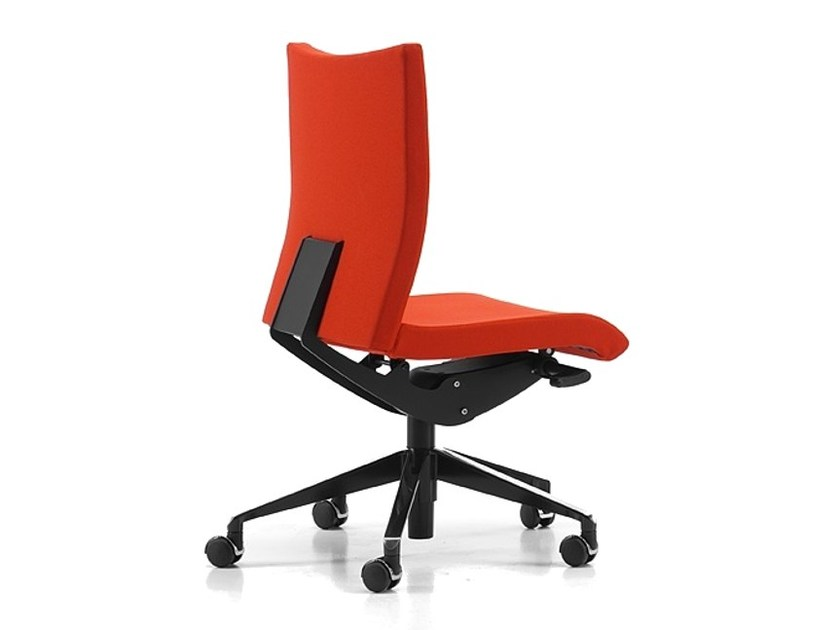 Fabric task chair with 5-Spoke base with castors AVIAMID 3500 by TALIN