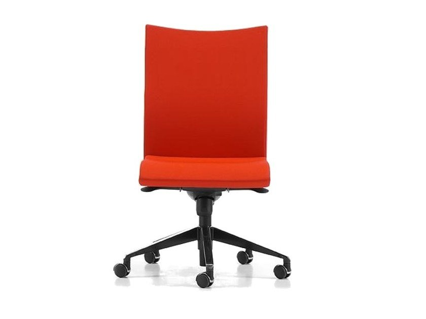 Fabric task chair with 5-Spoke base with casters AVIAMID 3510 by TALIN