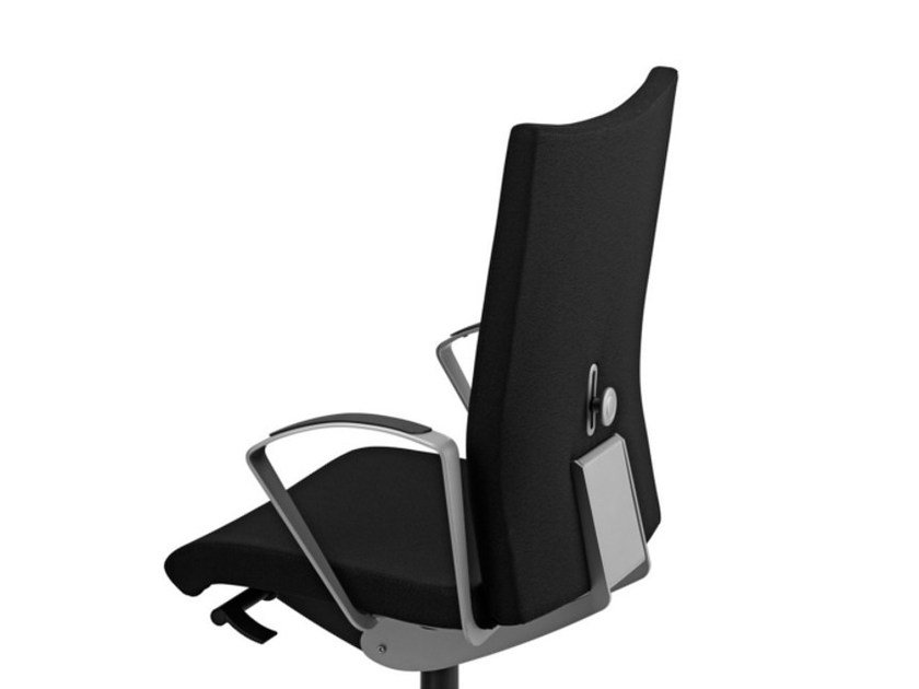 Fabric task chair with 5-Spoke base with armrests with castors AVIAMID 3514 by TALIN