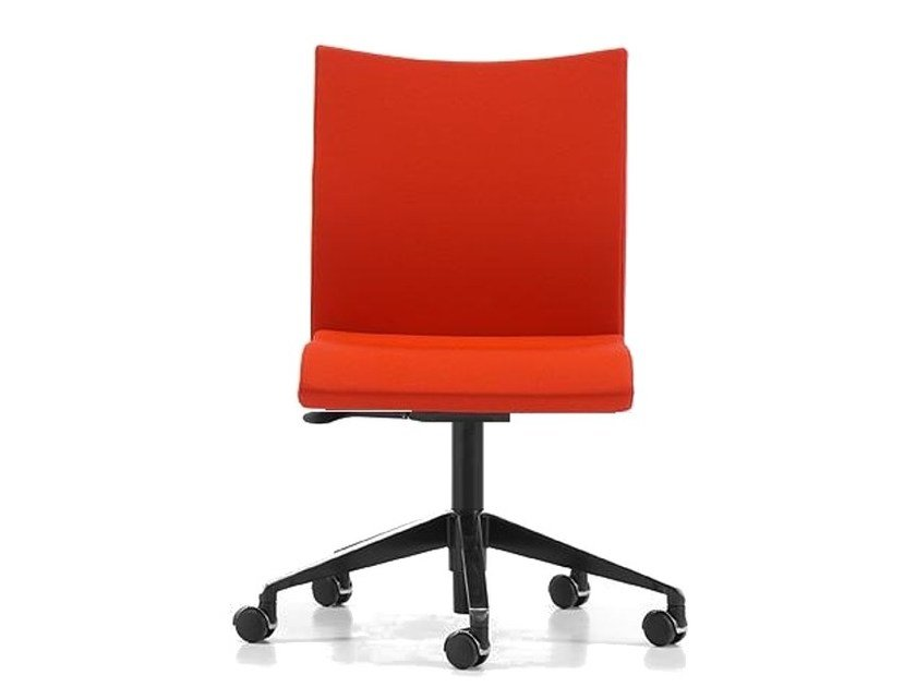 Fabric task chair with 5-Spoke base with casters AVIAMID 3540 by TALIN