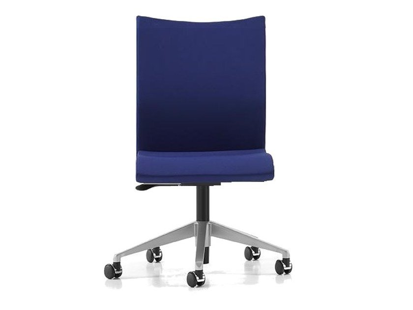Fabric task chair with 5-Spoke base with casters AVIAMID 3550 by TALIN