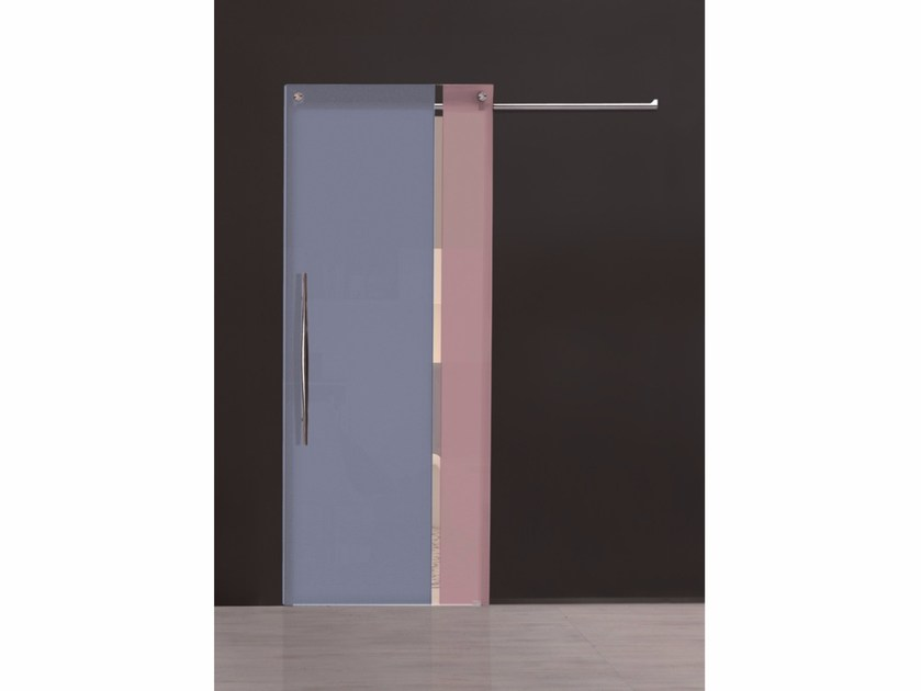 Stained glass sliding door BI•COLOR AVIO – CIPRIA by Casali