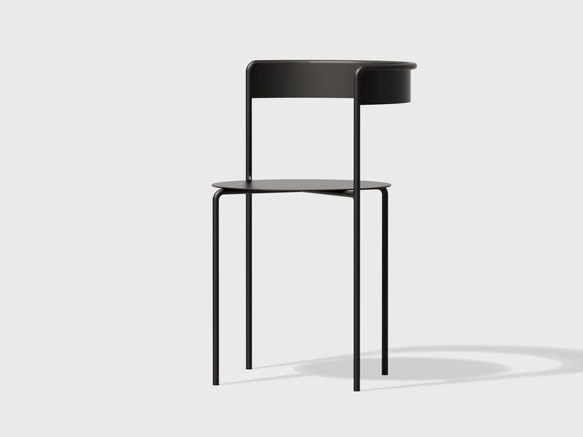 Powder coated steel chair AVOA CHAIR   Powder coated steel chair by Matter Made