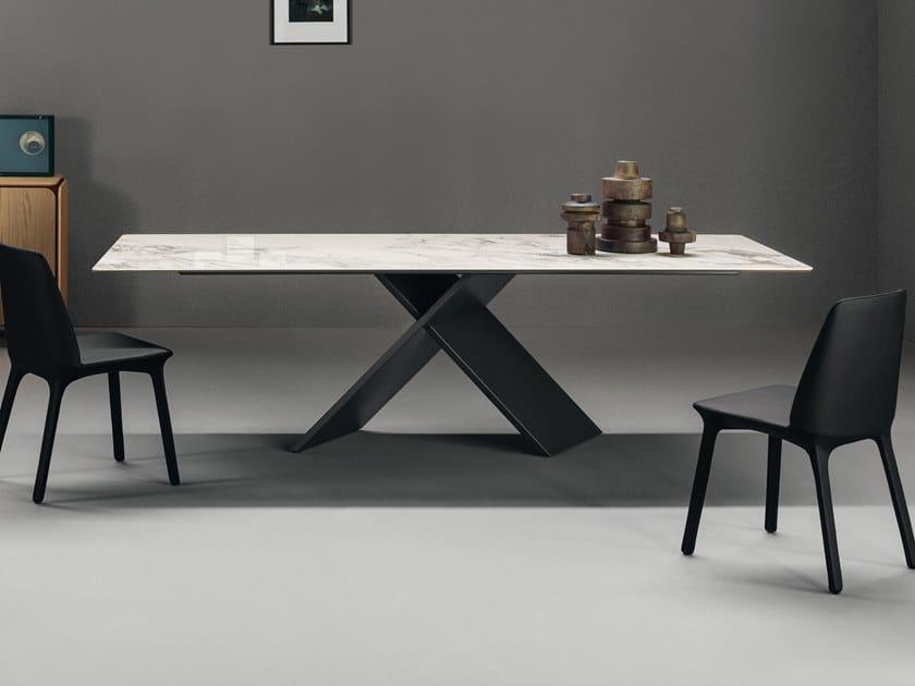 Tavolo rettangolare in ceramica AX | Tavolo in ceramica by Bonaldo