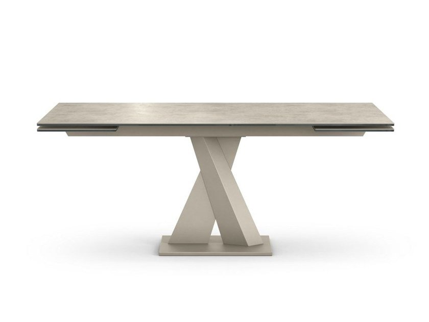 Extending porcelain stoneware dining table AXEL - CERAMIQUE by ROCHE BOBOIS
