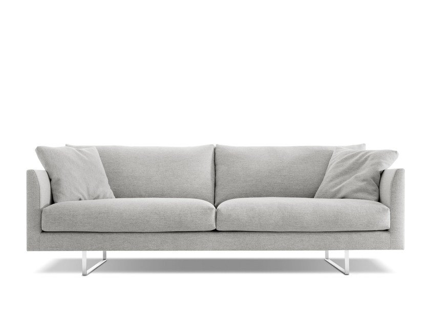 Sled base upholstered fabric sofa AXEL | Fabric sofa by Montis
