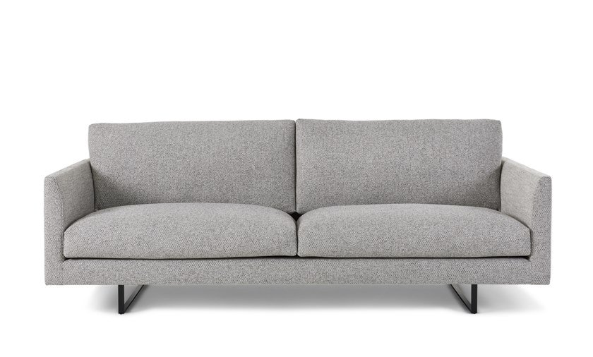 Sled Base Upholstered Fabric Sofa Axel By Montis