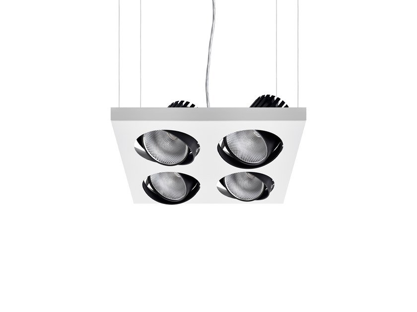 LED swivel pendant lamp AXIS SQ 4 by INDELAGUE | ROXO Lighting