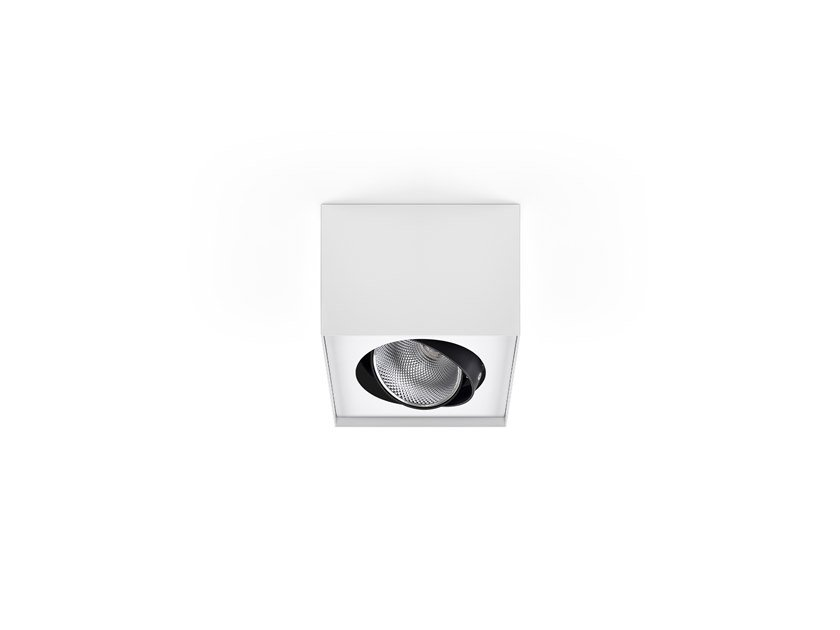 LED adjustable ceiling spotlight AXIS SQ /C 1 by INDELAGUE | ROXO Lighting