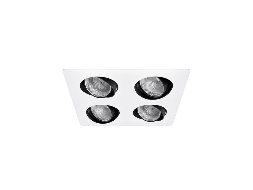 LED adjustable recessed spotlight AXIS SQ /E 4 by INDELAGUE | ROXO Lighting