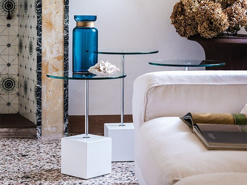 Round crystal coffee table AXO by Cattelan Italia