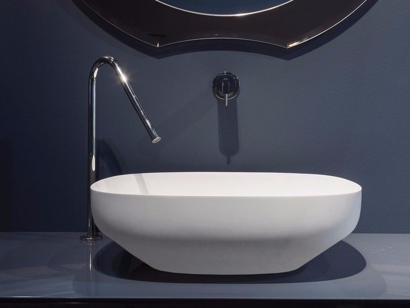 2 hole stainless steel washbasin mixer AYATISIMPLE by Antonio Lupi Design