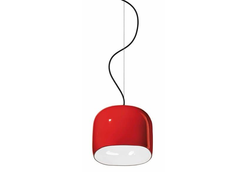 Lampada a sospensione in ceramica AYRTON C2550 by FERROLUCE