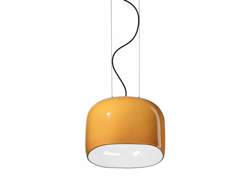 Lampada a sospensione in ceramica AYRTON C2551 by FERROLUCE