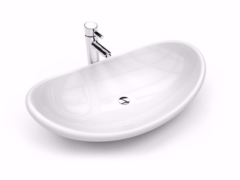 Countertop oval Adamantx® washbasin AYSUN by ZAD ITALY
