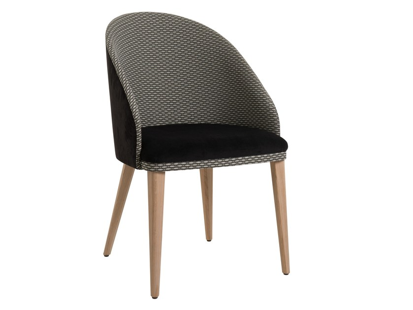 Upholstered fabric easy chair AZEL by Perrouin