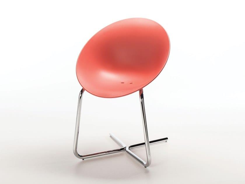 Cantilever polypropylene chair AZHAR CANTILEVER by Casprini