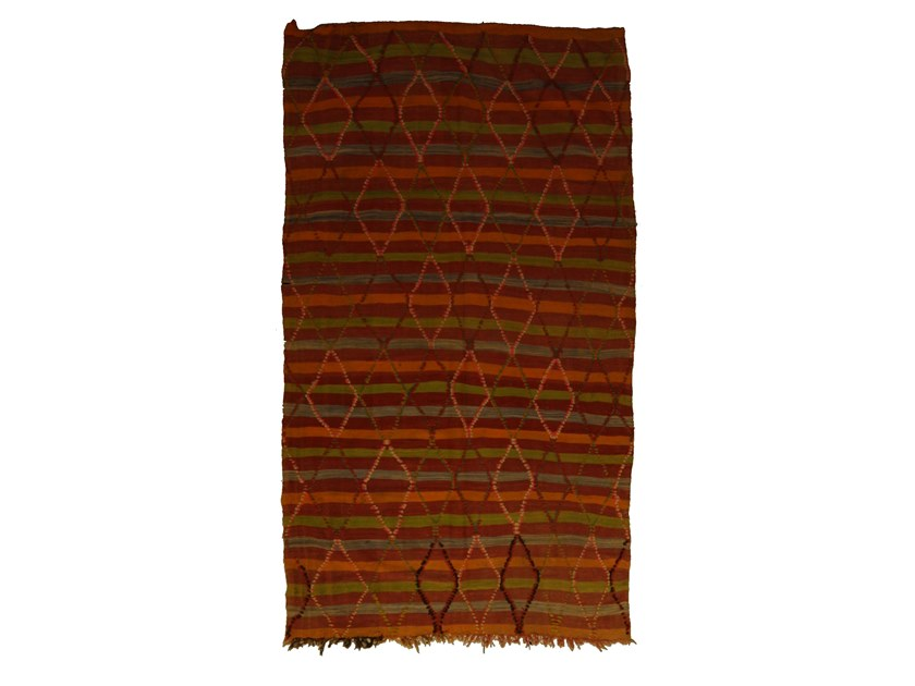Rectangular wool rug AZILAL TAA1089BE by AFOLKI