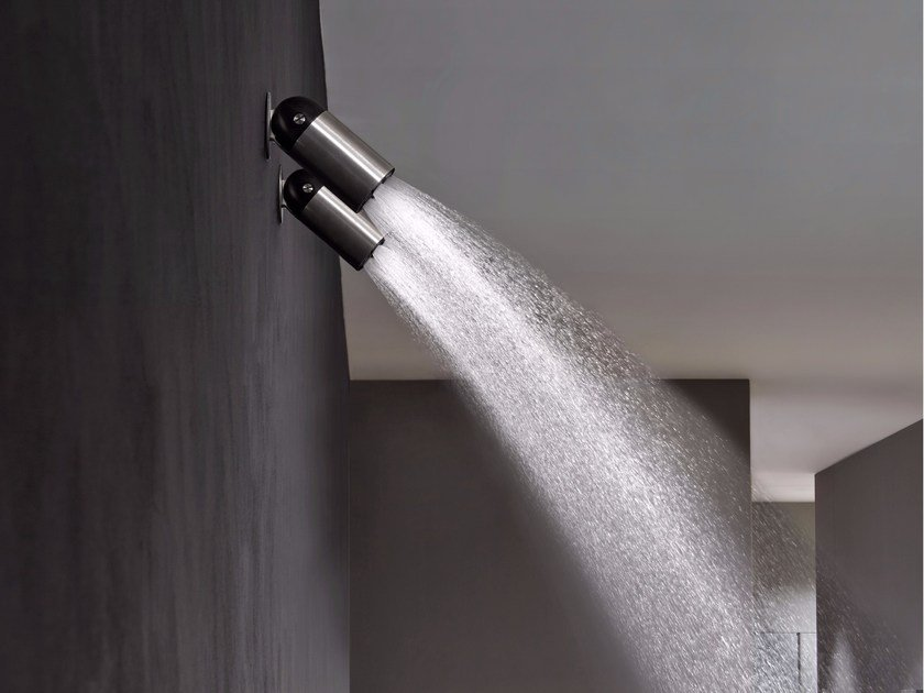 Adjustable stainless steel overhead shower AZIMUT by Antonio Lupi Design