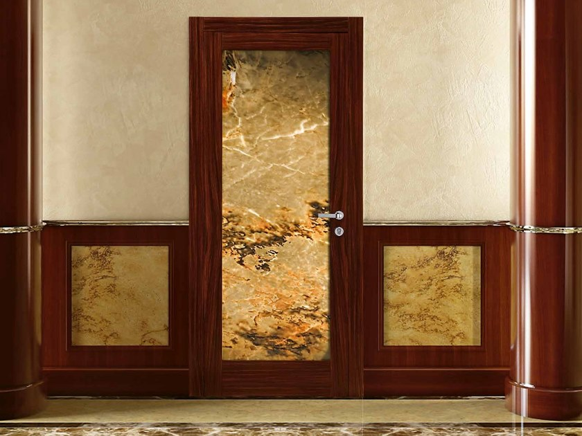 Hinged onyx door AZIMUT by Arnaboldi Interiors