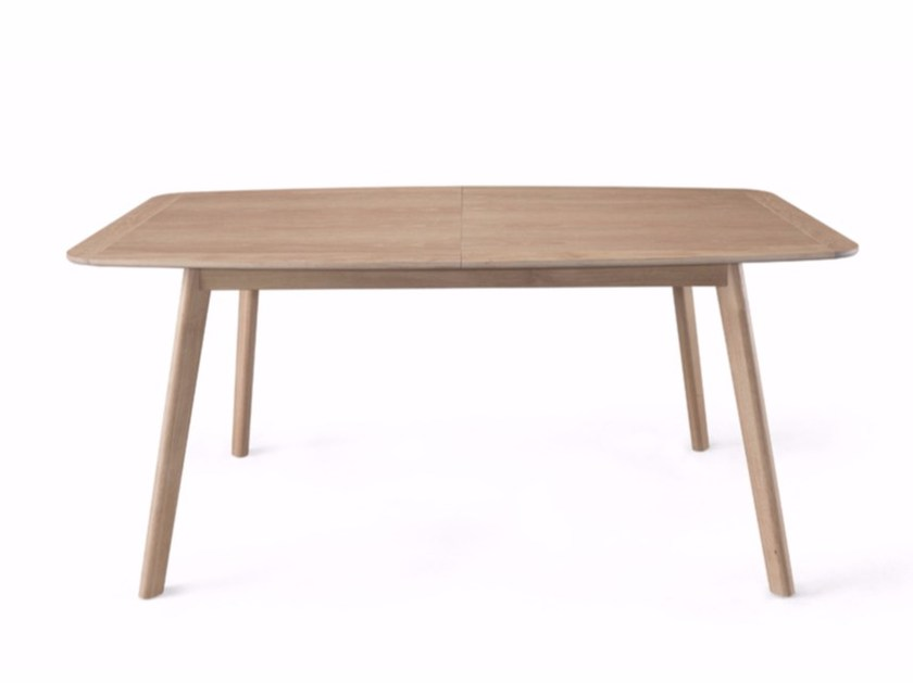 Extending rectangular solid wood table AZORES by Wewood