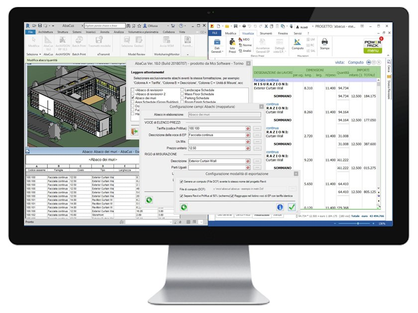 CAD-integrated quantity calculation software AbaCus by MCS Software