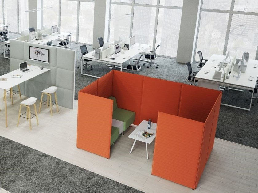 Acoustic fabric office booth Acoustic office booth by FURNIKO