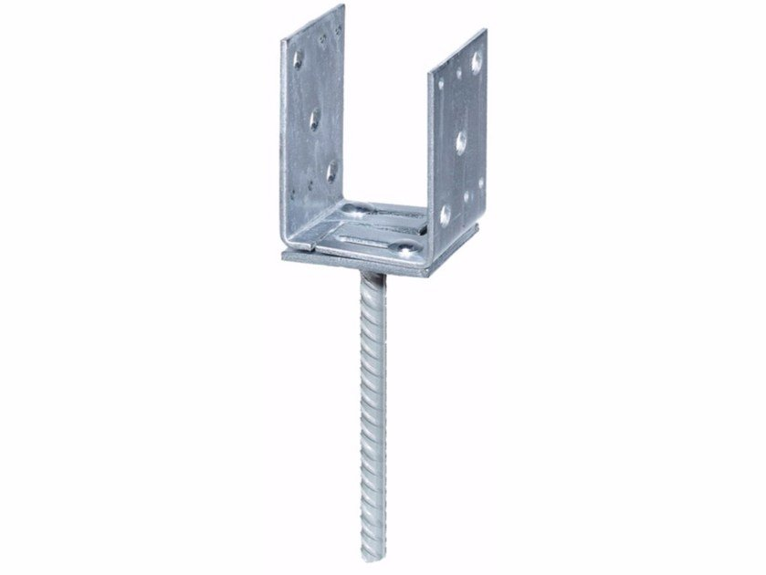 Galvanized steel Hardware for timber structures Adjustable U-shaped support by Unifix SWG